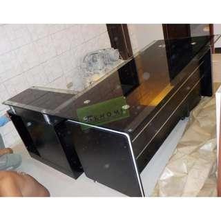EXECUTIVE TABLES GLASS TOP--KHOMI