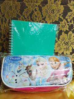 Tempat pencil Frozen dan note book