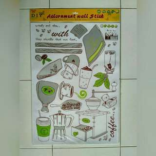 stiker dinding coffee maker AY7029