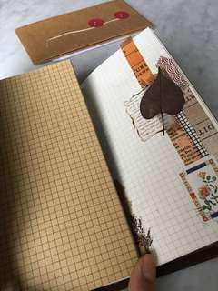 🚚 Midori Traveler's Notebook refill kraft grid large size