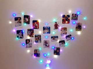 Fairy lights for photo decoration
