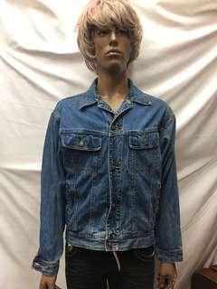 🚚 L號 -M偏大 美版 -古著外套 HANG TEW 重磅單寧  保存良好☘️黃37