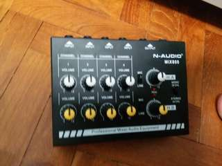 N audio 8 channel mixer
