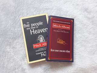 "Buy 2 for the price of 1: Mitch Albom ""The five people you meet in heaven"" and ""for one more day"""