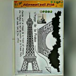 stiker dinding Eiffel tower small AY726