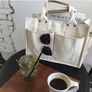 Women Square Box Shape Multi Pocket Large Capacity Shoulder Bag Chic Casual Bag