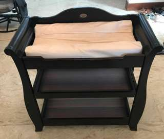 Australian Solid Wood Cot and Changing table
