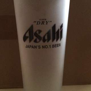 ASAHI frosted beer glasses