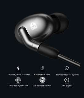 Bluetooth Wireless and Wired Ear Phone