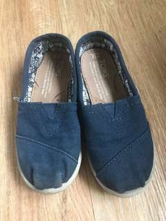 Toms Slip On Shoes Blue