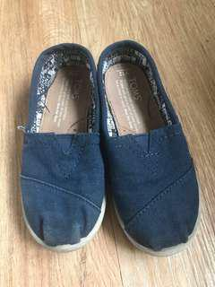 Toms Slip On Shoes Blue