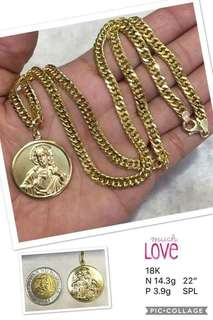 Saudi gold 18k Necklace for Men (22inches)