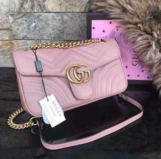 Gucci Marmont Matellassé Chain Shoulder Bag