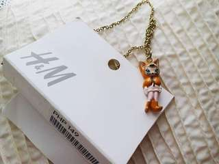 Brand New H&M Kids Fox Necklace