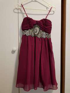 Ally Purple Formal Party Dress