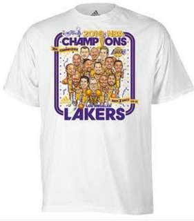 ADIDAS LA LAKERS 2010 NBA CHAMPIONSHIP PARADE SHIRT, MEDIUM