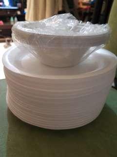 Piring Sterefoam dan Mangkuk Plastik