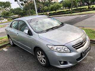 Toyota Altis 1.6 Auto available for Grab rental / Personal use