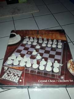 Glass crystal chess