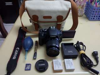 🚚 Canon 600D+18-55mm+2 Battery+bag+all