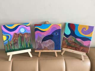 Oil Painting - Teachings of Don Juan (triptych)