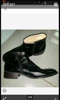 短筒皮鞋(真皮)