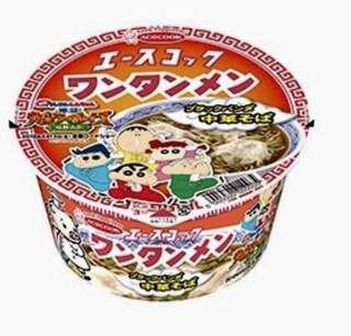 日本 蠟筆小新 杯麵