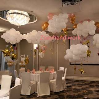 Balloon clouds with shiny stars☁️🌥️🌦️🌤️🌟⭐