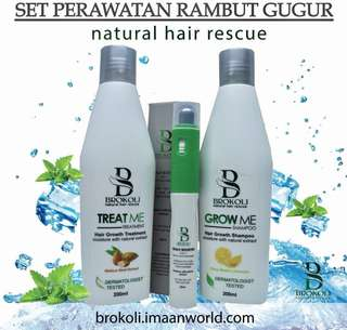 BROKOLI Shampoo & Treatment + Scalp Booster Combo Set