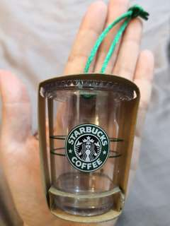 Starbucks miniature cold cup ornaments
