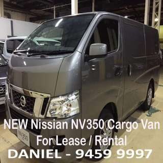 NEW Nissan NV350 Cargo/Goods Van For Lease / Rental