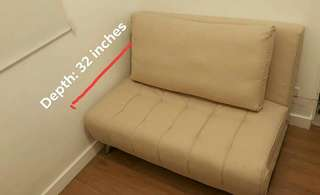 Beige Sofabed (excellent condition)