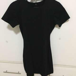Black Bodycon Shirt Dress