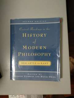 🚚 Central Readings in the History of Modern Philosophy