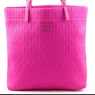 Preloved Authentic MK Neoprene Tote Bag in Neon Pink