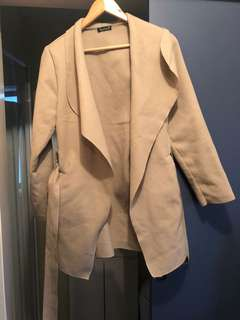 Boohoo beige coat