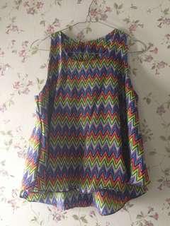 Rainbow tribal top