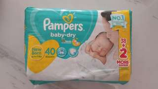 Brand New Pampers Baby Dry NB