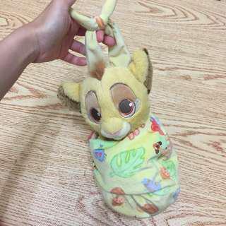 正版美國迪士尼購入獅子王辛巴娃娃