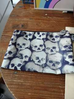 Typo skulls pencil case