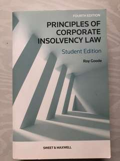 Principles of corporate insolvency law (roy goode)