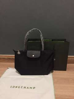 Longchamp Neo Long Handle Black