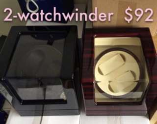Automatic Watch Winder For 2 Watch power adaptor included Watchwinder Brand New In Box 10/10 / gift exchange