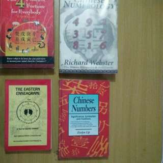 Numerology & 4 Pillars book collection