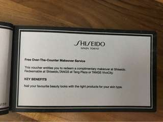 Shiseido makeover service over the counter