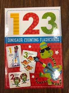 Brand New 123 Dinosaurs Counting Flashcards
