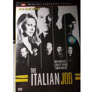DVD - THE ITALIAN JOB (2003) action crime thriller charlize theron mark wahlberg donald sutherland edward norton