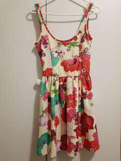 Zara Trafaluc Floral Print Dress
