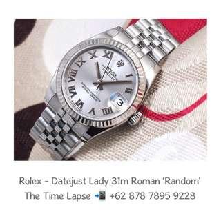 Rolex - Datejust Lady 31m, Roman Silver Dial Stainless Steel 'Random'