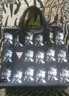 Unisex Tote Bag Zip Guess